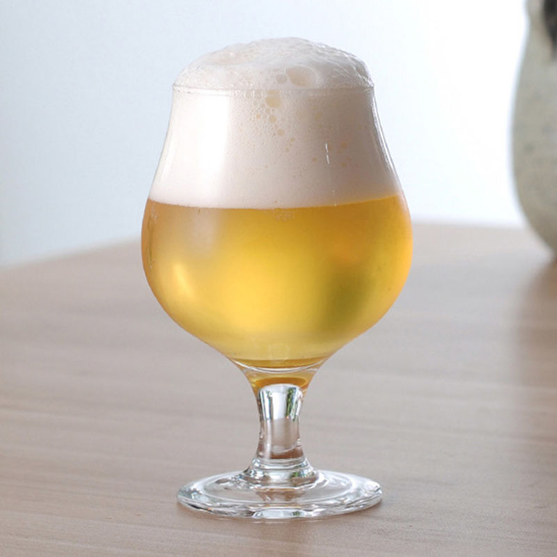 Rounded Bowl Belgium Beer Glasses For High End Bar / Taproom / Pub