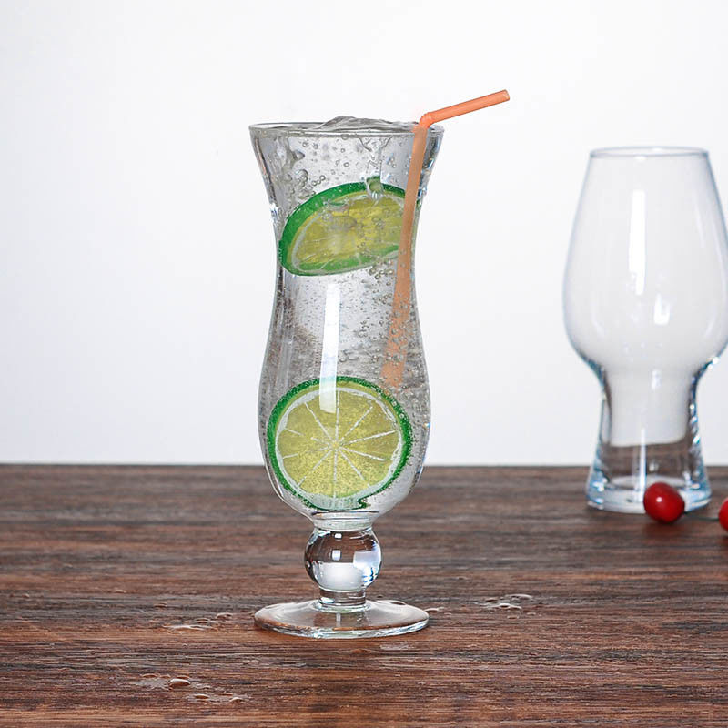 15oz Hurricane Cocktail Glasses With Chip Resistant Rim And Sturdy Footed Base