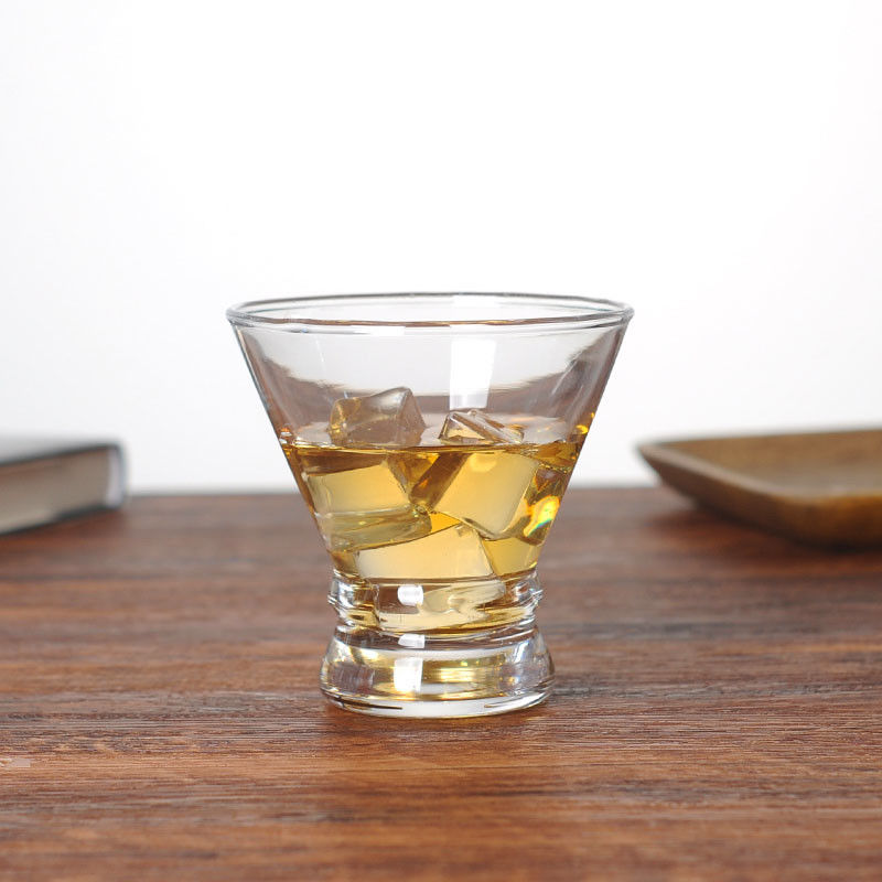 Machine Made 7oz 200ml Stemless Martini Cocktail Glasses Cup